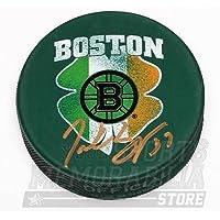 $69 » Patrice Bergeron Boston Bruins Signed Autographed St. Patrick's Irish Flag Puck