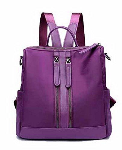 Agoolar Casual Women Backpacks Hiking Backpacks Nylon Daypack, Purple Gmxbb180735