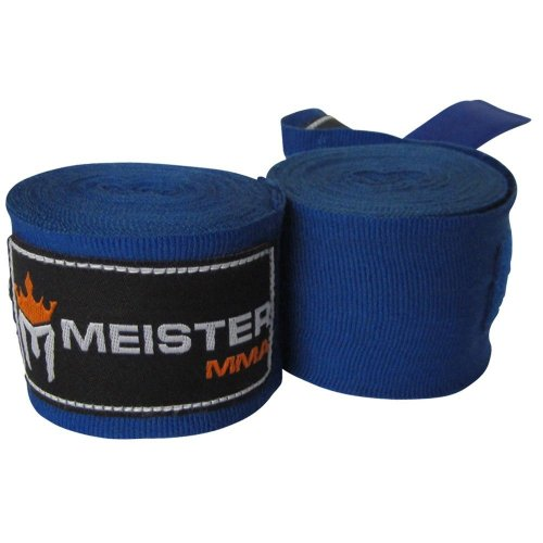 """Meister MMA Adult 180"""" Semi-elastic Hand-Wraps for MMA and Boxing"""