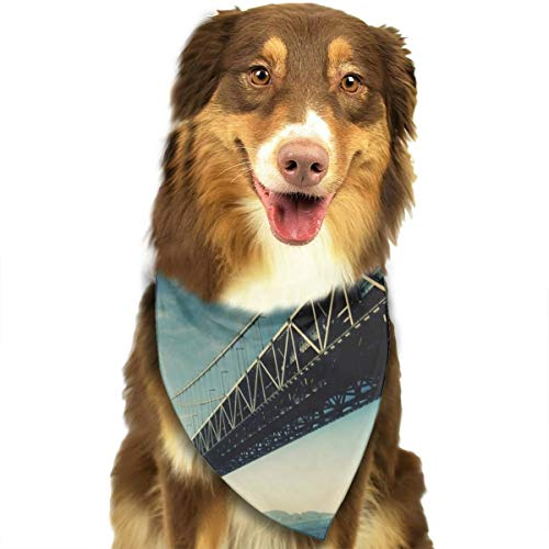 Dog Bandana Triangle Scarfs Puppy Bibs Accessories, Japan Akashi Kaikyo Bridge, for Dogs, Cats, Pet Birthday Party Gifts Supplies