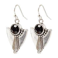 Retro Temperament Personalized Crystal Rectangular Earrings