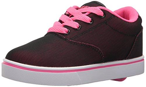 Heelys Girls' Launch Sneaker, Black/Hot Pink/Supermesh, 3 Medium US Big Kid