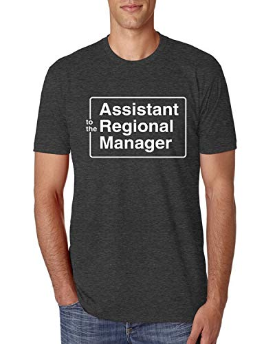 (Assistant to The Regional Manager Office Quote | Mens Pop Culture Premium Tri Blend T-Shirt, Vintage Black, Medium)