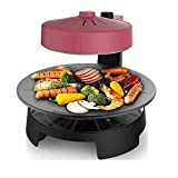 3D Infrared Heating Electric Grill,Double Baking Tray Design, 360 Degree Rotation.