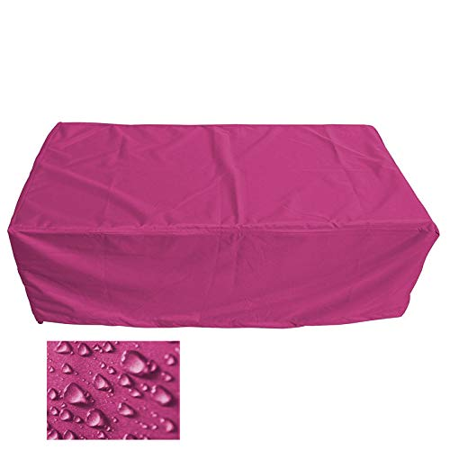 Holi Europe Premium Schutzhülle Gartenmöbel Abdeckung/Gartentisch Abdeckplane B 210cm x T 130cm x H 100cm Pink/Rosa