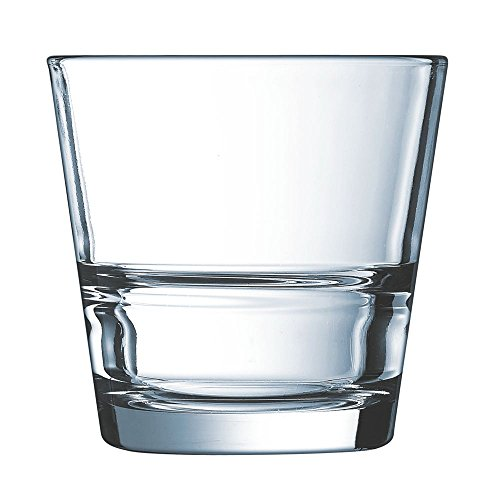 Cardinal H3858 Arcoroc Stack Up 7 Oz. Rocks Glass - 12 / CS ()