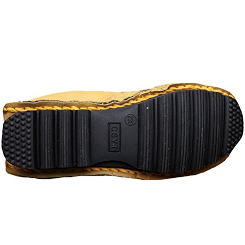 Vogstyle La Mujer Hechos A Mano Patrón Multicolor De Cuero Zapatos Estilo 1 Amarillo
