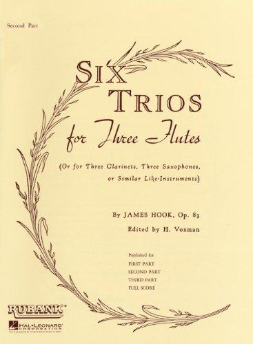 Six Trios for Three Flutes, Op. 83 Second Part ()