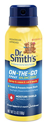 Dr. Smith's On-The-Go Diaper Rash Spray, 3.5 Ounce