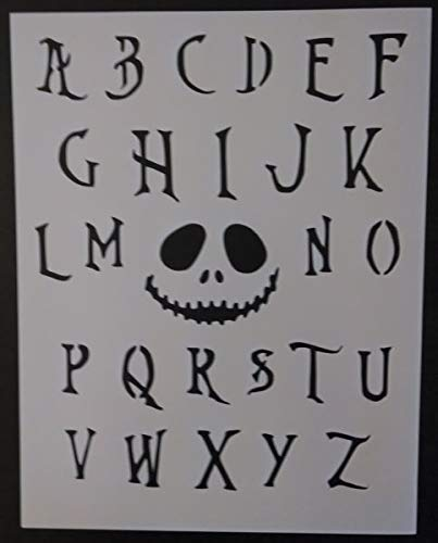 nightmare before christmas font alphabet 85x11 stencil