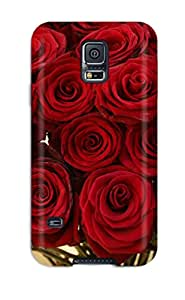 Excellent Design Hot Red Roses Phone Case For Galaxy S5 Premium Tpu Case
