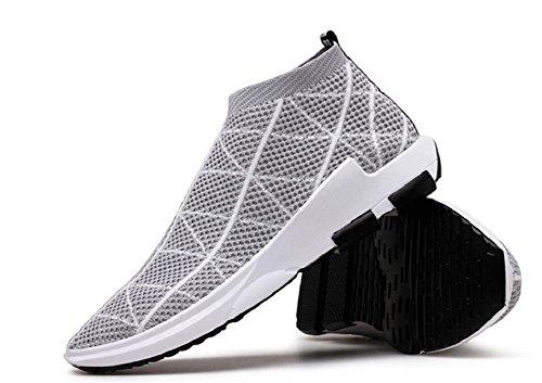 Herren Laufschuhe Free Transform Flyknit Fashion Sneakers von JiYe Grau-1