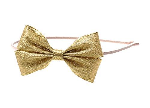 "Price comparison product image Anna Belen Girls ""Angel"" Fancy Holiday Bow Headband O/S Medium Gold"