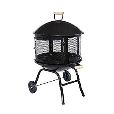 Outdoor Fire Pit Portable Backyard Patio Garden Firepit Lid Burn Wood Fireplace Best Selling Item