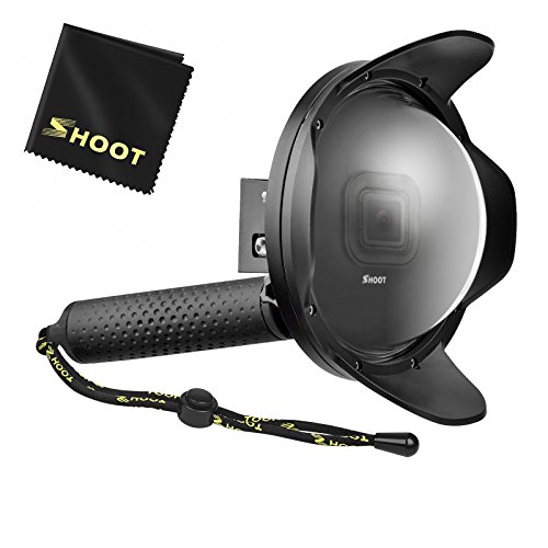 SHOOT 6'' Underwater Lens Hood Dome Port for GoPro HERO 6/HERO 5/HERO(2018) Black Camera Diving Transparent Underwater Photography with Waterproof Housing Case Accessories from SHOOT