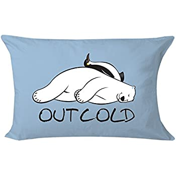 Amazon Com What On Earth Out Cold Pillowcase Polar Bear