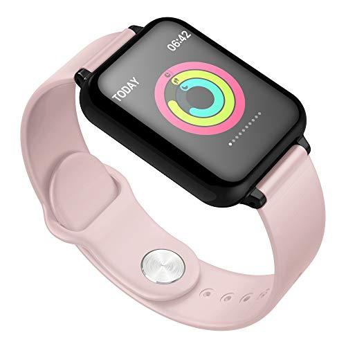 Insaneness Y77 1.3inch IP67 Waterproof Smart Watch Heart Rate Monitor Bluetooth Wristband Fitness Tracker Sport (Pink)