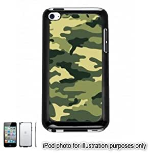 Dark Green Camo Camouflage Print Apple iPod 4 Touch Hard Case Cover Shell Black 4th Generation
