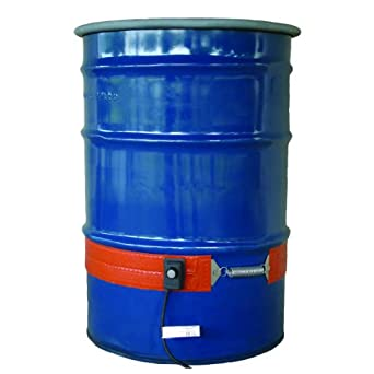 BriskHeat ECONO55-1 ECONO Metal Drum Heater, Fits 55-Gallon Drums, 2-Layer Reinforced Silicone Rubber, W x L: 3.6 x 70-Inch, Diameter: 22.3-Inch, 120VAC