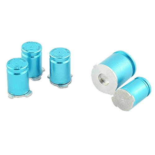 ModFreakz™ ABXY/Guide Button Kit 9mm Bullet Blue For Xbox 360 Controller