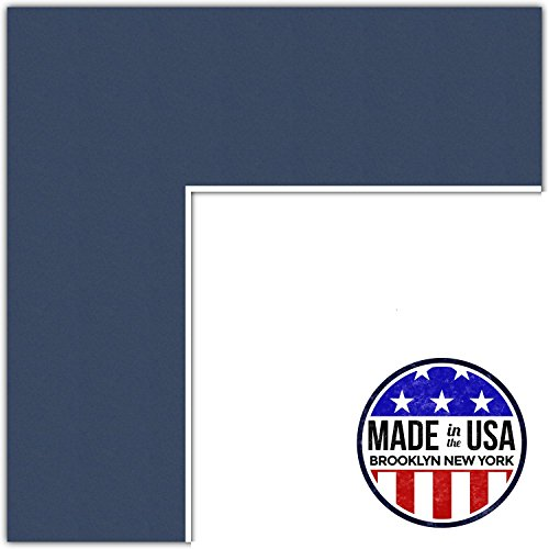13x16 Deep Blue/Midnight Blue Custom Mat for Picture Frame with 9x12 opening size (Mat Only, Frame NOT Included) (Matting Photo Custom)