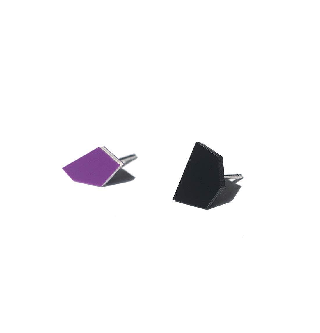 Enamel Leather Earrings in Classic Colors and Irregular Shapes Tiny Stud Earrings Minimalist Earrings