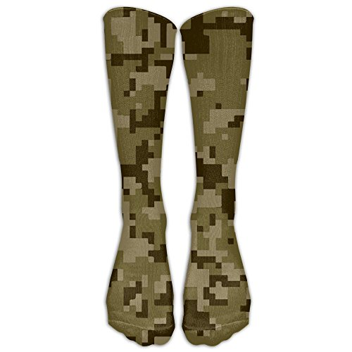Most Fashion Maker Cool Camo Camouflage Military Sock Classic Fancy Design Multi Colorful Crew Knee High Socks Running Soccer (Chrome Ball Feet)