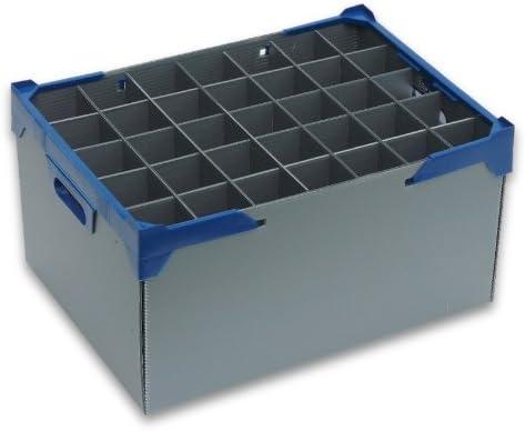 Champán Cristal Caja de almacenaje | Glassjacks, 35 Celdas | Copa de Vino de Almacenamiento | Cristal MAX Ancho 65 mm, Cristal MAX Altura 245 mm | Caja Ref. 245 – 35-f.: Amazon.es: Hogar