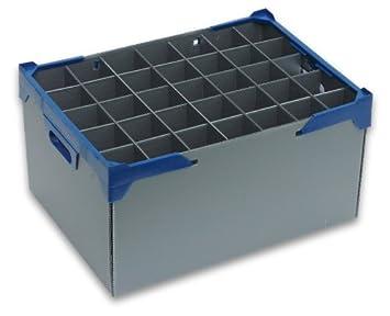 Copa de champán - vasos cajas de almacenamiento | Glassjacks | Unidades 3 | 35 celdas