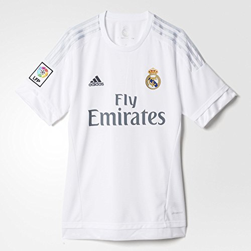 Adidas Mens Real Madrid Home Replica Soccer Jersey Large