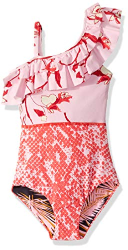Maaji Girl's One Piece with Ruffle Shoulder Swimsuit
