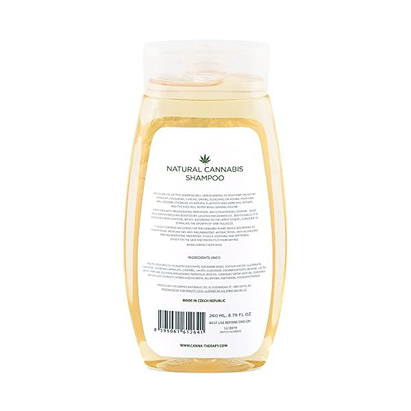 Natural Cannabis Shampoo – Repair   Strengthen   Volumize – with Caffeine, Keratin & Macadamia Oil – 260ml