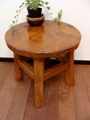 アジアン家具 バリ家具 チーク材ナチュラルテーブル台(M) テーブル ちゃぶ台 ローテーブル 花台 木製 チーク材 B00VQ3QCY8