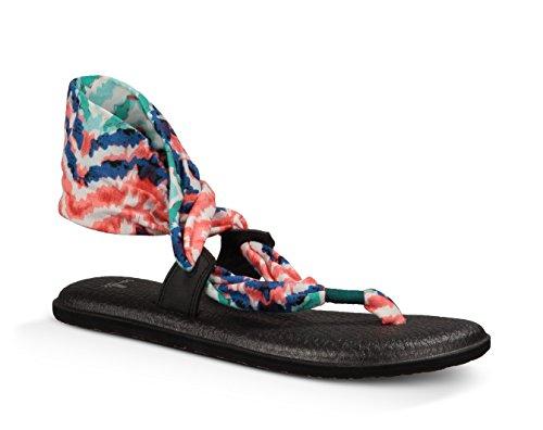Sanuk Womens Yoga Slinglet Prints Sandal Bright Blue Ikat