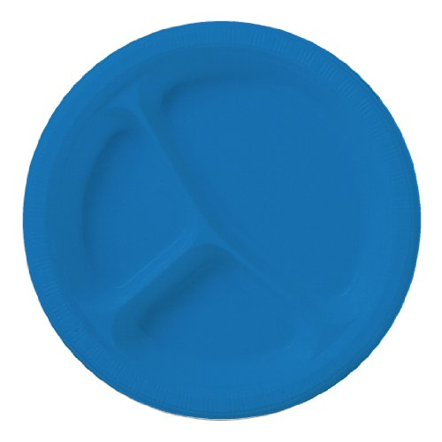 True Blue Plastic Plates - 4