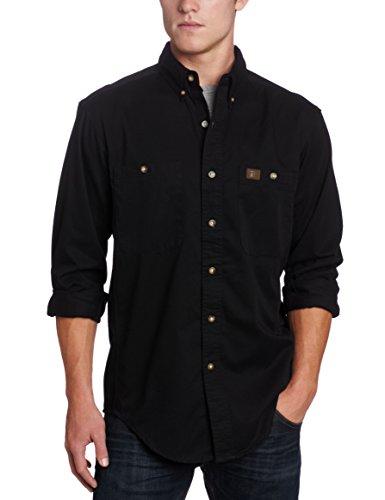 Wrangler Men's Logger Shirt,Black,X-Large/Regular
