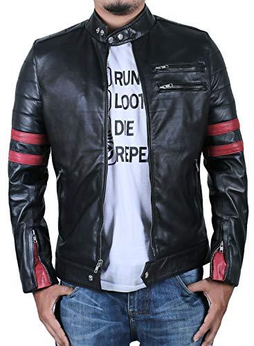 Laverapelle Men's Genuine Lambskin Leather Jacket (Black, Large, Polyester Lining) - 1501535