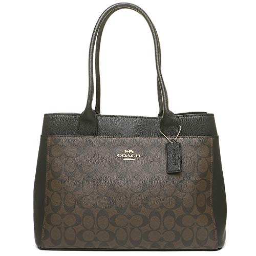 Coach Signature Canvas Casey Tote Handbag (Brown/Black)