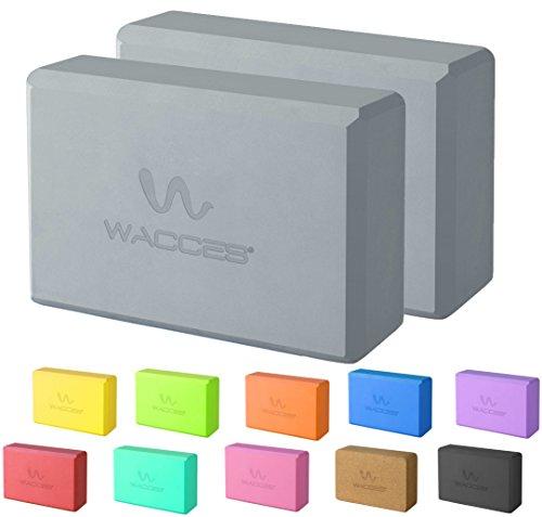 "Wacces Foam Exercise, Fitness & Yoga Blocks - Set of 2 ( 9"" x 6"" x 4"" ) - Gray"