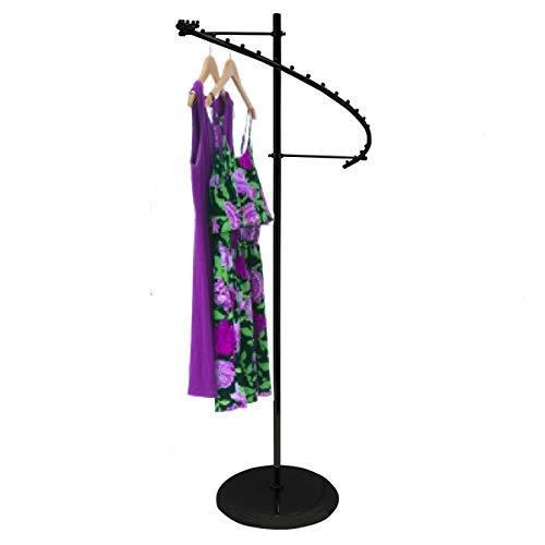 Only Hangers Textured Matte Black 29-Ball Spiral Clothing Rack