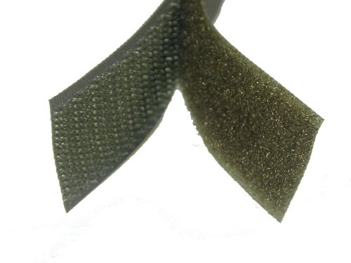 1'' Military Green/OD Green Sew On Hook and Loop - 5 Yds of Hook and 5 Yds of Loop Per Package by Generic