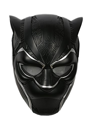 Black Panther Helmet Mask Costume Accessories Props Full Head Silver