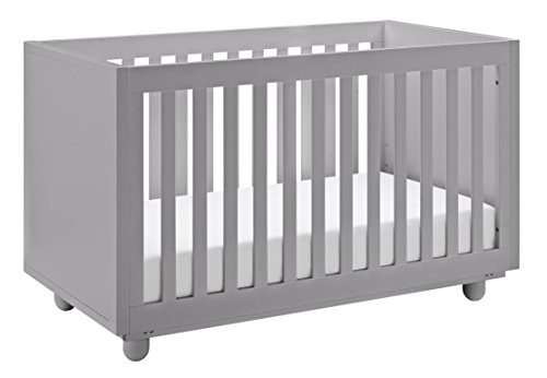 - Storkcraft Violet 3-in-1 Convertible Crib, Pebble Gray, Easily Converts to Toddler Bed Day Bed or Full Bed, Three Position Adjustable Height Mattress, Some Assembly Required (Mattress Not Included)