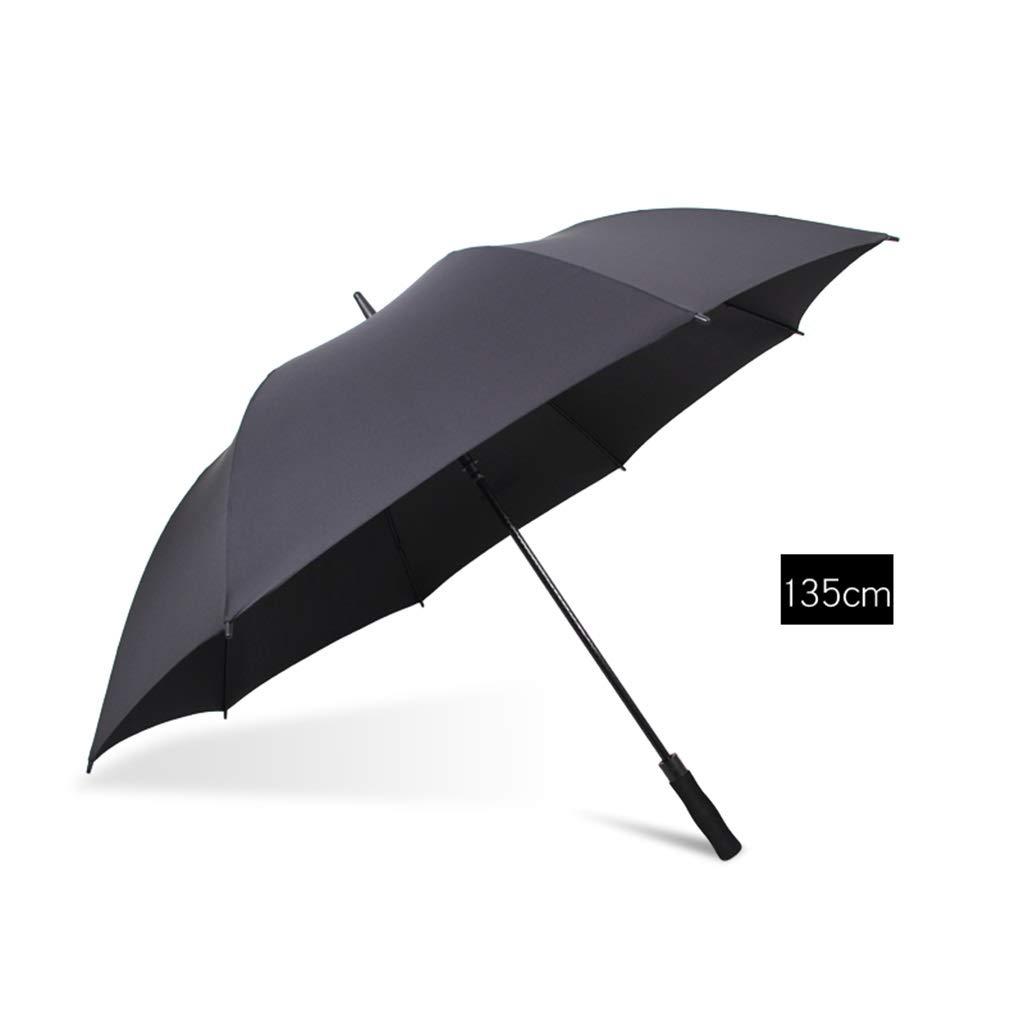 Black 135cm102cm MCGMXG LongHandled Umbrellas Men and Women Oversized Rain and Rain Umbrellas Windproof and Antiriot Umbrellas Umbrella (color   Black, Size   135cm102cm)