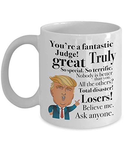 Donald Trump Coffee Mug - 11 Oz Tea Cup Gift Ideas For Judge Birthday Christmas President Conservative Republican (Having A Girlfriend While In The Military)