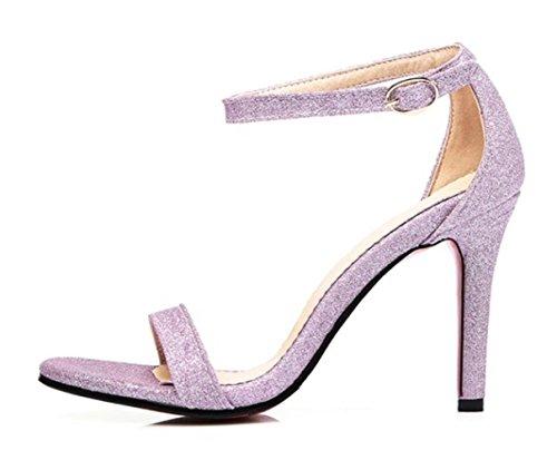 CSDM grandi formati piccoli stilo a forma di tacco alto tacchi alti sandali sabbia scarpe da sposa primavera e estate scarpe singole , rose gold , 44 custom 2-4 days do not return