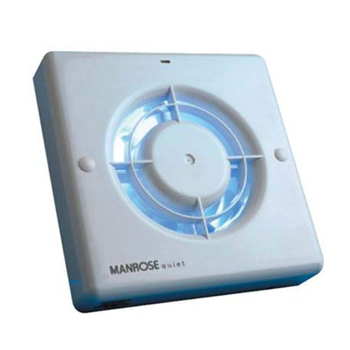Manrose QF100T Quiet Extractor Fan with Timer for 4'/100mm Duct
