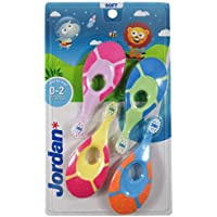 Jordan* | Step 1 Baby Toothbrush | Toddler Toothbrush for Age 0-2 Years Old | The Original First Toothbrush Baby with…