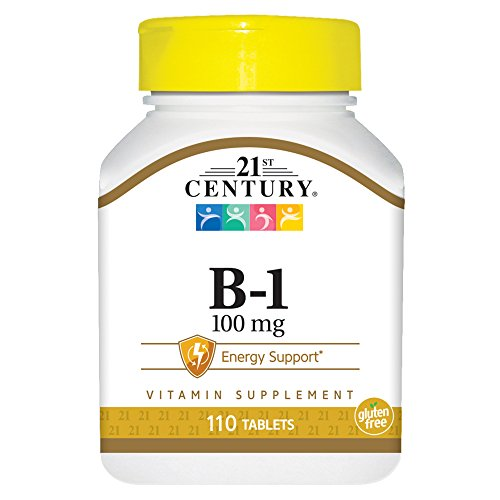 21st Century B-1 Tablets, 100 Mg, 110 count (Pack of 12) (110 Tablets Pack Count)