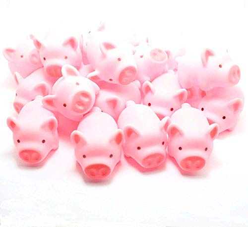 Meeall Pig Bath Toy, Rubber Pig Baby Bath Toy for Kids, Pig Decorations, 20 PCS ()